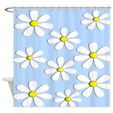 daisies blue 2 Shower Curtain