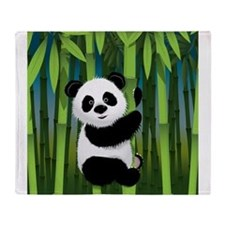 Panda in Bamboo Throw Blanket