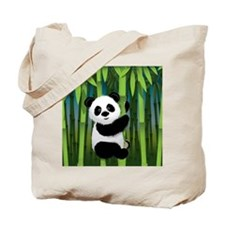 Panda in Bamboo Tote Bag