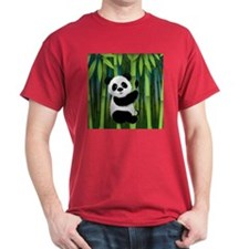 Panda in Bamboo T-Shirt
