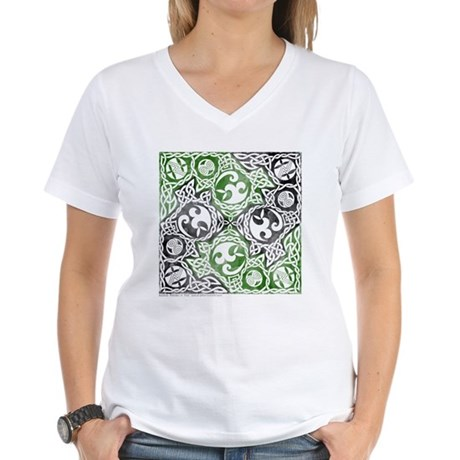 Celtic Puzzle Square Women's V-Neck T-Shirt