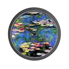 MONETWATERLILLIESprint Wall Clock