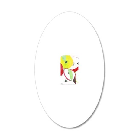 apples 20x12 Oval Wall Decal