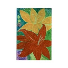 day lilies Rectangle Magnet
