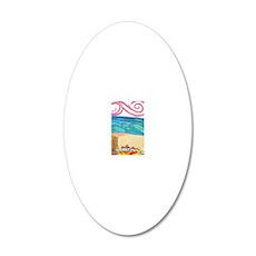 wind ocean sand 20x12 Oval Wall Decal