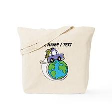 Custom Driving Around The World Tote Bag