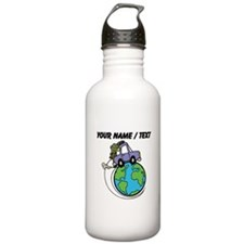 Custom Driving Around The World Water Bottle