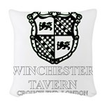 Winchester Crest one color Woven Throw Pillow