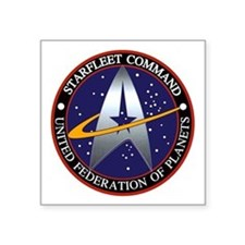 "Starfleet Command Square Sticker 3"" x 3"""