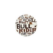bull_rider_brown Mini Button