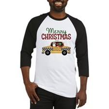 Merry Christmas Taxi Baseball Jersey