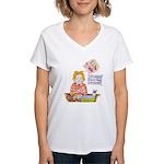 Scrapbooking Crop-A-Thon Women's V-Neck T-Shirt