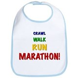 Crawl Walk Run Marathon! Baby Bib