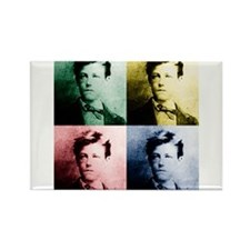 Rimbaud Pop Art Rectangle Magnet