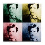 Rimbaud Pop Art Tile Coaster