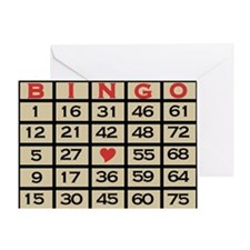Bingo Game Card Greeting Card