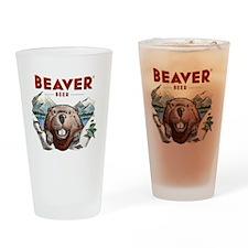 BeaverBeer_Shirt_1 Drinking Glass