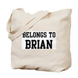Belongs to Brian Tote Bag