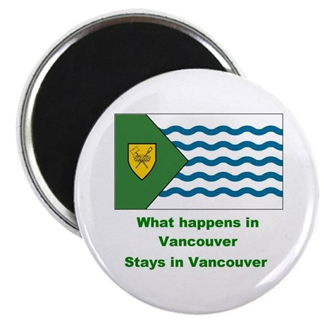 "Stays in Vancouver 2.25"" Magnet (10 pack)"
