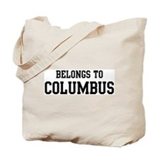Belongs to Columbus Tote Bag
