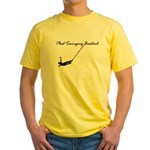 """Phat Swinging Bastard"" Yellow T-Shirt"