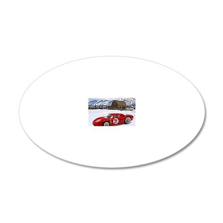 Hot Wheels_Ferrari 250 Le Ma 20x12 Oval Wall Decal