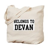 Belongs to Devan Tote Bag