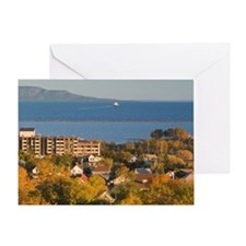 Thunder Bay: Town View from Hillcres Greeting Card