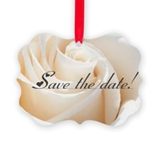 save the date rose Ornament