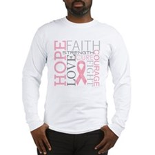 breastcancercollage Long Sleeve T-Shirt