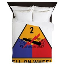 2nd Armored Div Queen Duvet