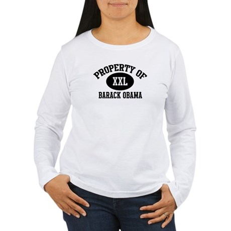 Property of Barack Obama Women's Long Sleeve T-Shi