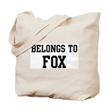 Belongs to Fox Tote Bag