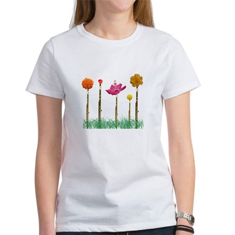 Flute Flowers Women's T-Shirt
