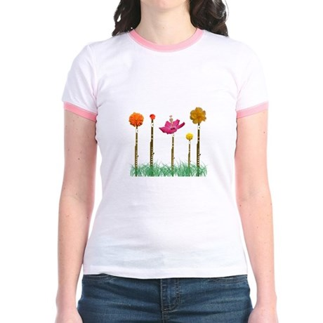 Flute Flowers Jr. Ringer T-Shirt