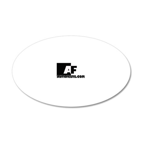 AutoFests3black 20x12 Oval Wall Decal