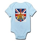 UK Flag Crest Shield Infant Bodysuit