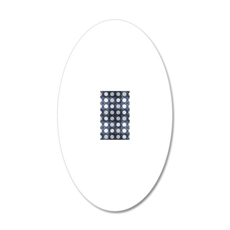 Amoeba Squares 5x8 20x12 Oval Wall Decal