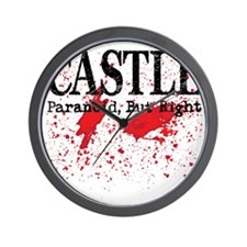 Castle_Bloody-ParanoidRight_lite Wall Clock