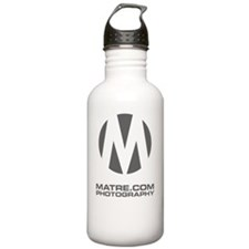 circle-m darkgray1 bac Water Bottle