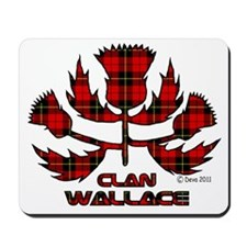 Wallace White Mousepad