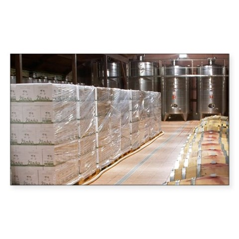 Oak barrels and stainless stee Sticker (Rectangle)