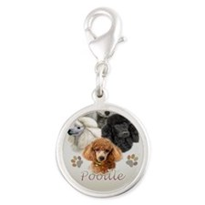 Cant Have Just One Poodle jour Silver Round Charm