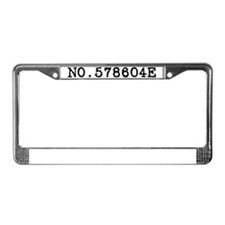 Kirstyn - Number License Plate Frame