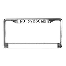 Kirstyn - Number License Plate Frame