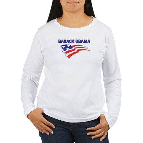 Fun Flag: BARACK OBAMA Women's Long Sleeve T-Shirt