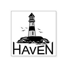 "Unofficial Haven Logo Color Square Sticker 3"" x 3"""