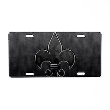 FDLBlackonBlackCoinPurse Aluminum License Plate