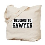 Belongs to Sawyer Tote Bag