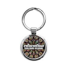 Education_by_sciophobik Round Keychain